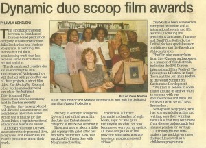 Dynamic duo scoop film awards