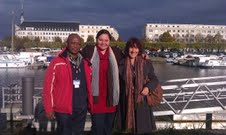 Madoda Ncayiyana and Julie Frederikse with Toni Monty, CEO of Durban Film Office in Nantes, France at Produire au Sud Script Studio, 22 November 2013